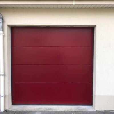 pose porte de garage motorisée-menuistore